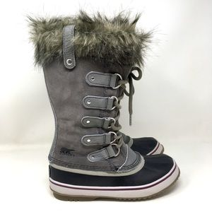 Sorel Joan of Arctic Boots Winter Snow Rain Gray 6